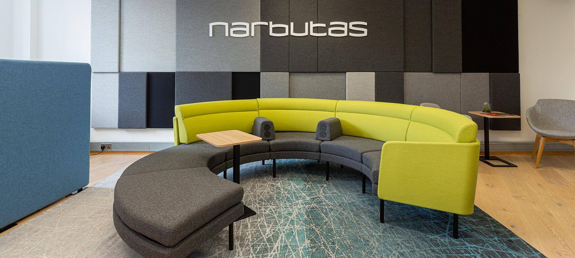 Диваны и акустические панели Narbutas